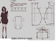 《图解女装纸样设计80例》