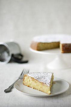 Meyer lemon cake. On the short list for the one lemon our tree produced.