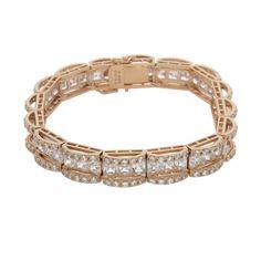 "Victoria Wieck Sterling Vermeil Absolute Princess & Round Bridge 8"" Bracelet #VictoriaWieck #Line"