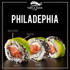 Publicidad Para Take A Sushi on Los Andes Portfolios Sushi Take, My Sushi, Sushi Menu, Sushi Party, Tuna Sashimi Recipe, Sushi Master, Sushi Night, Food Menu Design, Homemade Sushi