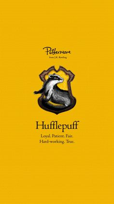 Official home of Harry Potter & Fantastic Beasts. Discover your Hogwart's House, create a Wizarding Passport & unlock more magic with Wizarding World Gold Arte Do Harry Potter, Harry Potter Houses, Harry Potter Universal, Hogwarts Houses, Harry Potter World, Harry Potter Hogwarts, Hufflepuff Wallpaper, Imprimibles Harry Potter, Hufflepuff Pride