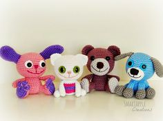 Crocheted animal baby rattles by Smartapple Creations