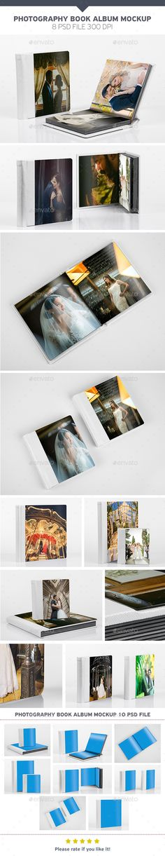 #Photography Book Album Mockup - Product #Mock-Ups #Graphics Download here: https://graphicriver.net/item/photography-book-album-mockup/19504507?ref=alena994