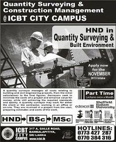 Quantity Surveying & Construction Management Courses in Sri Lanka