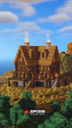 Minecraft Water House, Minecraft Shops, Minecraft Houses Survival, Minecraft Cottage, Minecraft Castle, Cute Minecraft Houses, Minecraft Houses Blueprints, Minecraft Room, Amazing Minecraft