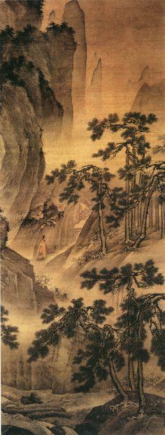 Dai Jin(戴進) , 戴进 洞天问道图 绢本设色 北京故宫博物院藏