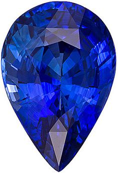 Blue Sapphire Loose Gemstone, Pear Cut, 10.9 x 7.0 mm, 3.14 Carats at BitCoin Gems