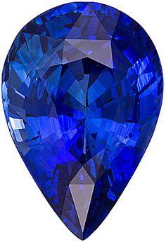Blue Sapphire Loose Gemstone, Pear Cut, 10.9 x 7.0 mm, 3.14 Carats at BitCoin Gems