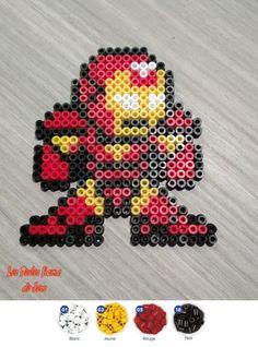 Iron Man hama perler beads by Jessica Bartelet - Les perles Hama de Jess