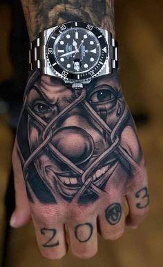 Tattoos Discover The Lili will sing! Chicanas Tattoo, Clown Tattoo, Money Tattoo, Forarm Tattoos, Forearm Tattoo Men, Leg Tattoos, Tattoo Drawings, Mini Tattoos, Tattos