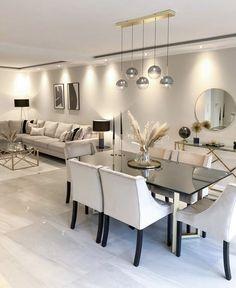 Home Room Design, Dining Room Design, Home Interior Design, House Design, Living Room Decor Cozy, Home Living Room, Beige Living Rooms, Cozy Living, Living Room Modern