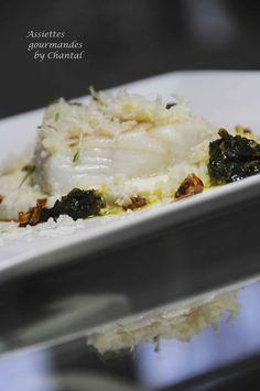 Cabillaud basse température, purée de chou-fleur, chermoula - Assiettes gourmandes by Chantal !