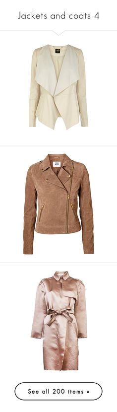 """""""Jackets and coats 4"""" by efiaeemnxo ❤ liked on Polyvore featuring outerwear, jackets, coats, blazer, casacos, blazer jacket, brown, chocolate chip, zipper jacket and brown jacket"""