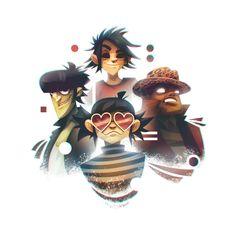 "Damon Albarn breaks down the Gorillaz song ""Andromeda,"" featuring D. Hobbit, Gorillaz Fan Art, Damon Albarn, Jamie Hewlett, Imagine Dragons, Cartoon Shows, Beautiful Voice, Ship Art, Cool Bands"