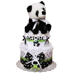 Little Panda Bear Diaper Cake - $72.00 : Diaper Cakes Mall, Unique Baby shower diaper cake