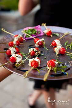 Caprese Skewers, Wedding finger food (gourmetbay.net)
