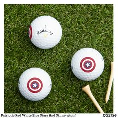 Callaway Golf, Golf Ball, Red White Blue, Stripes, Stars, Sterne, Star