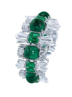 Among The Industry's Most Discreet Jewelers, Moussaieff Is Known For Its Gemstone Expertise, Part 2 - Moussaieff Emerald and Diamond Bracelet in White Gold - Diy Jewelry Unique, Diy Jewelry To Sell, Diy Jewelry Tutorials, Jewelry Art, Jewelry Bracelets, Vintage Jewelry, Fine Jewelry, Diamond Bracelets, Jewellery
