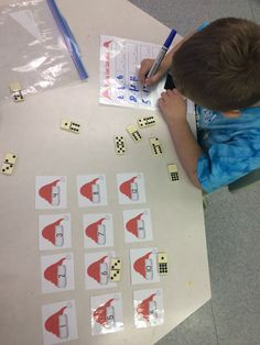 Santa Hat Domino Sort  Count the pips and put the domino on the appropriate Santa Hat. Practice basic addition with the included recording sheets!  Grade for kindergarten, grade 1, and grade 2