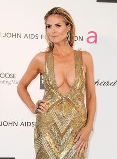 Heidi Klum Photos - Heidi Klum at the Annual Elton John AIDS Foundation Academy Awards Viewing Party held at the Pacific Design Center in West Hollywood, Los Angeles. - Celebs at the Annual Elton John AIDS Foundation Party North Rhine Westphalia, Sharon Stone, Heidi Klum Height, Elton John Aids Foundation, Prom Dresses, Formal Dresses, Celebs, Celebrities, Plunging Neckline