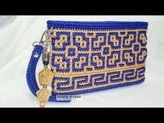 Crochet Clutch Bags, Crochet Wallet, Crochet Shoes, Crochet Art, Crochet Handbags, Tapestry Crochet, Crochet Purses, Knit Or Crochet, Crochet Stitches