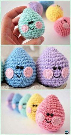 Crochet Amigurumi Easter Eggs Free Pattern - Crochet Easter Egg Ideas [Free Patterns]