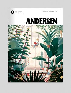 Creation of a cover illustration for the great italian revue Andersen, about youth literature. Layout Design, Book Design, Cover Design, Plant Illustration, Botanical Illustration, Digital Illustration, Publication Design, Illustrations And Posters, Magazine Design
