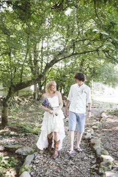 Woodland glade wedding ceremony – photography http://www.petecranston.com/