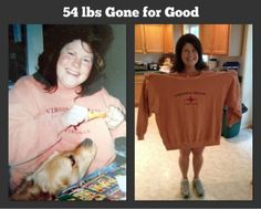 54 lbs Gone for good all with clean eating and using the Free website Sparkpeople.com !!