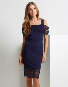 Lipsy Bardot Trim Bodycon Dress