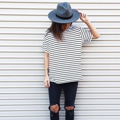 A striped t-shirt is the perfect piece for any season.