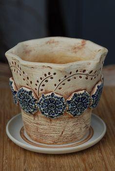 Ceramic Pots, Ceramic Clay, Pottery Handbuilding, Concrete Crafts, Pottery Classes, Slab Pottery, Cute Mugs, Decoration, Glass Art