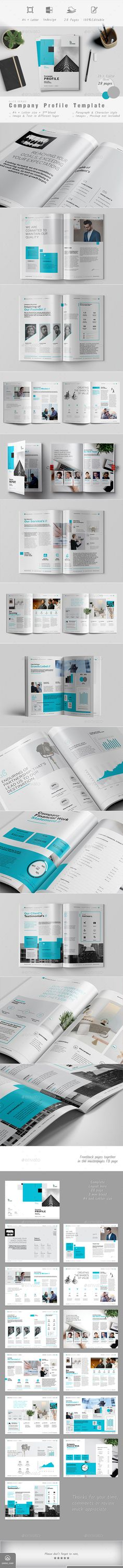 Company Profile — InDesign INDD #profile #classic brochure • Download ➝ https://graphicriver.net/item/company-profile/18978410?ref=pxcr