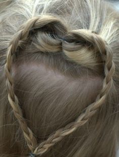 Heart Braid for Your Little Love - http://kayboutique.com/heart-braid-for-your-little-love/