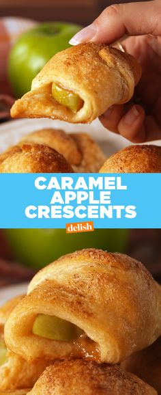 These Caramel Apple Crescents are almost TOO easy to make. Get the recipe from Delish.com.