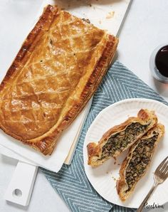 Veggie wellington with mushrooms and spinach. Get the recipe.
