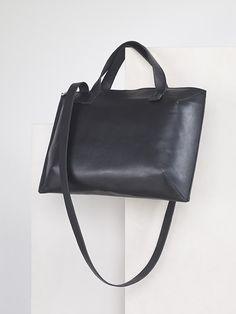 leather messenger bag by agneskovacs