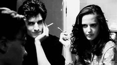 Louis Garrel and Eva Green in The Dreamers. (Go to link for gif, stable url)