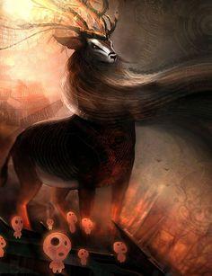 Miyazaki, tree spirits. Mononoke Hime