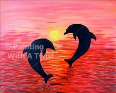 Dolphin Dance - Painting with a Twist