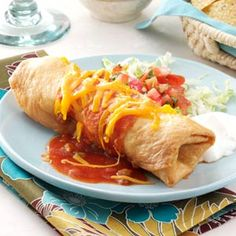 Beef Chimichangas Recipe from Taste of Home -- shared by Schelby Thompson of Camden Wyoming, Delaware.