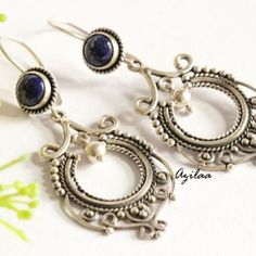 Lapis lazuli earrings Lapis earrings