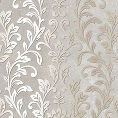 Proffer a sense of voguish look to your wall space by adding this Norwall Silver Leaf Damask Wallpaper. Easy to hang and easy to clean. Metallic Wallpaper, Textured Wallpaper, Wallpaper Roll, Silver Wallpaper Phone, Cream And Gold Wallpaper, Wallpaper For Walls, Grey Wallpaper Accent Wall, Textured Background, Tapete Gold