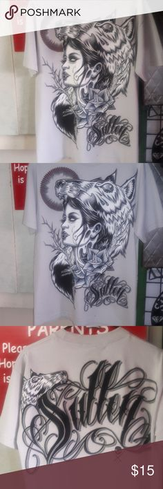 Sullen men's shirt Heather grey with art on front and back sullen Shirts Tees - Short Sleeve