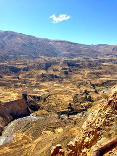 """Colca Canyon: """"Twice the depth of the Grand Canyon and one of the deepest canyons in the world, visit this gorge for adventure sports, idyllic Andean villages and the chance to see condor up close."""" Peru Highlights www.bradtguides.com"""