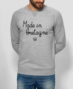 Sweat Homme Made in Bretagne Gris by Le Terroir x Monsieur TSHIRT Manche,  Bretagne, 48130ddd0d84