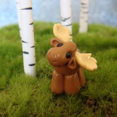 Cute Clay Moose polymer clay by TinySculptor on Etsy