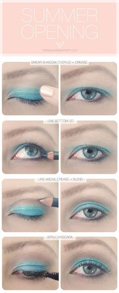 Hooded eye makeup tutorial. Ugh color combo, but the idea is great.
