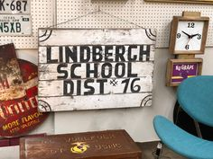 "Vintage Wood Sign   36"" Wide x 24"" High   $89  Mid Century Dallas Booth 766  Lula B's 1010 N. Riverfront Blvd. Dallas, TX 75207"