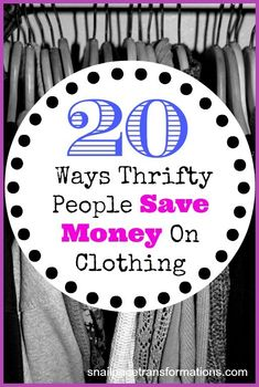 20 ways to save money on clothing. Save 100s of dollars a year on clothes with these tips.